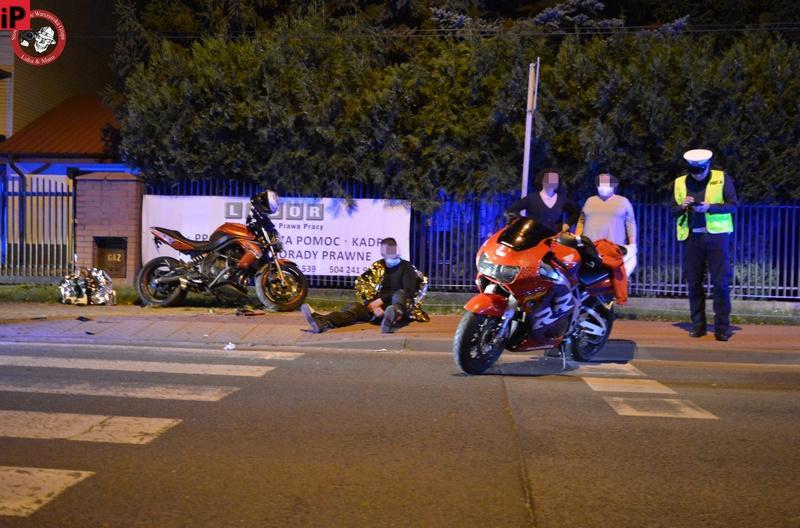 Groźny wypadek z udziałem motocyklistów