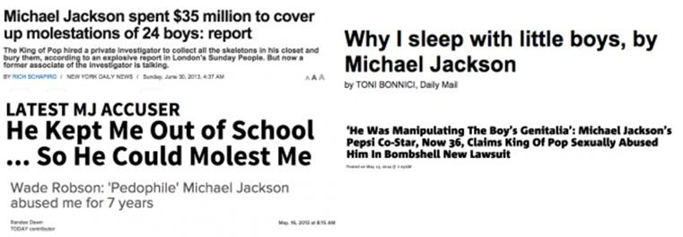 type of 'evidence' sufficient for a MJ hater