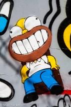 Homer Simpson Street Art