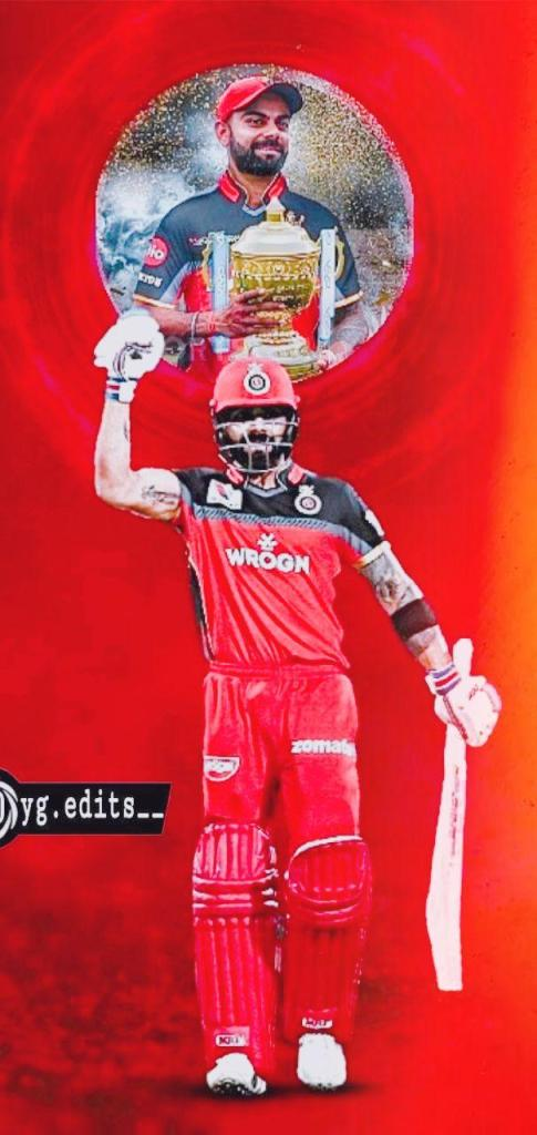 RCB Wallpaper With Virat Kohli in RCB Dress