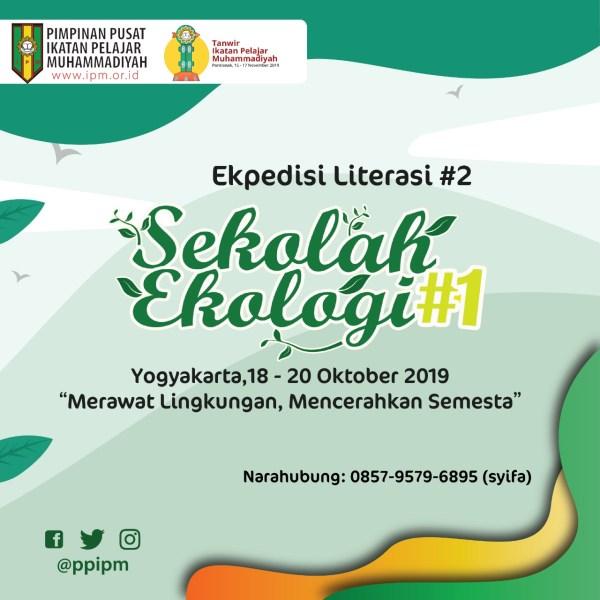Pengumuman Peserta Sekolah Ekologi 2019