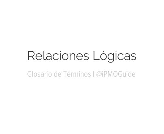 Relaciones Lógicas