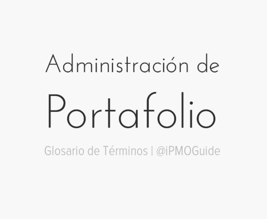 Administración de Portafolio
