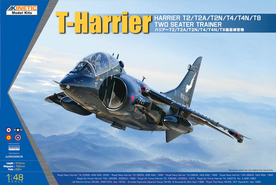 Kinetic 1/48th 2-seat Harrier launch