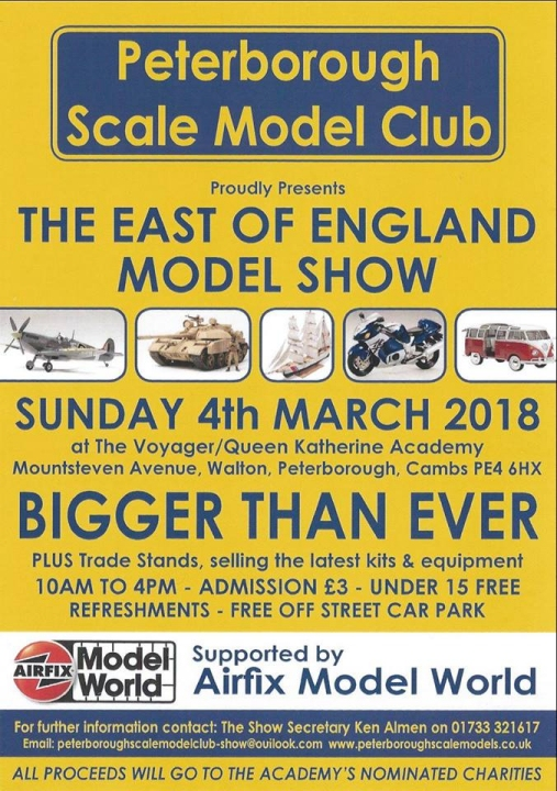 East Of England Model Show 2018 poster