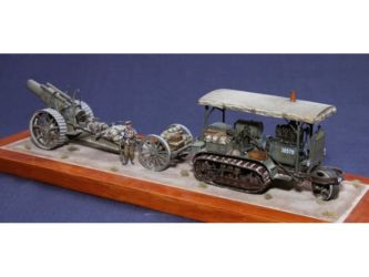 Class 38 Gold - WWI Holt Tractor & 8 Inch Gun by David Magarelli