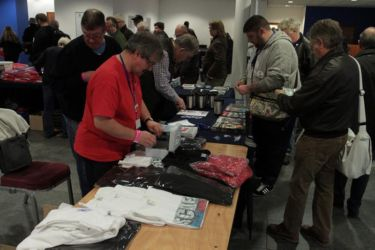 Scale ModelWorld 2016 - merchandise was selling briskly to visitors as they arrived - Photo John Tapsell