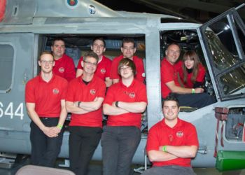 Airfix team with the Royal Navy Lynx photo by Rob Sullivan