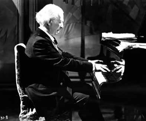 Ignacy Jan Paderewski w filmie brytyjskim Sonata księżycowa, 1937 r. Fot. NAC
