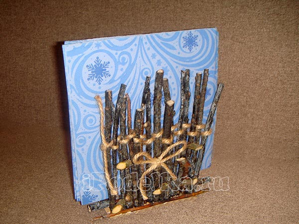 From wooden sticks 9