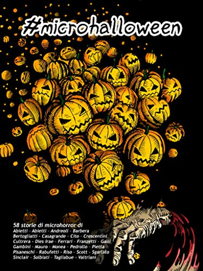 La copertina di #microhalloween, disegnata da Daniele Aimasso (A.N.S.I.A., Doom Art Cave), da Amazon.it