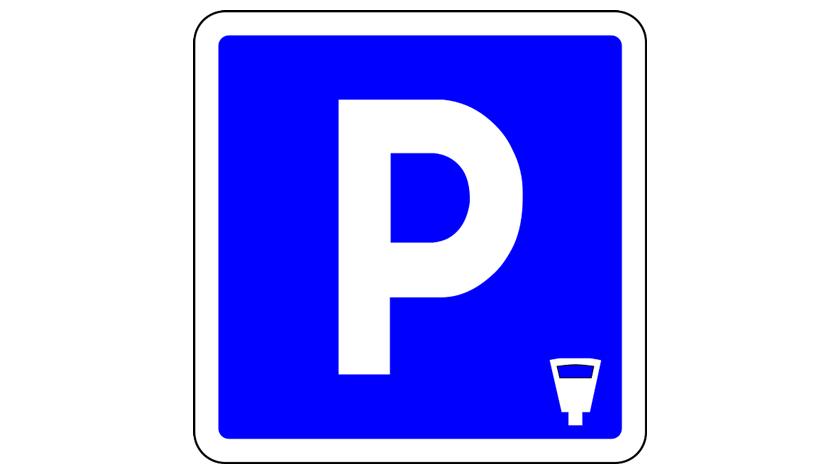 znak płatnego parkowania