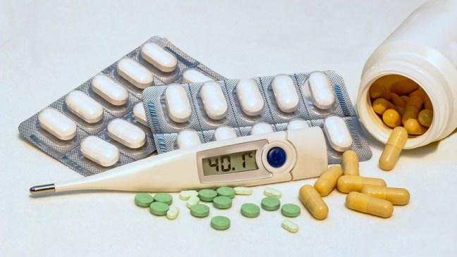 termometr i lekarstwa