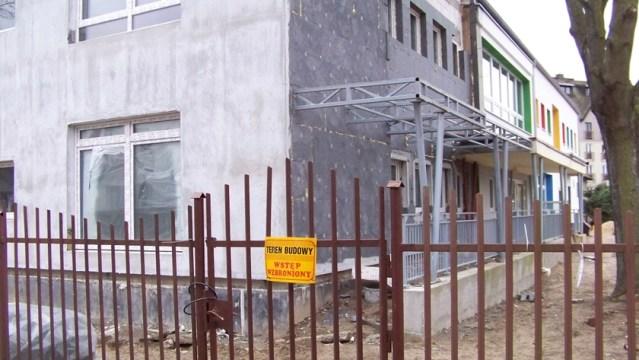 przedszkole nr 5 w Policach w przebudowie