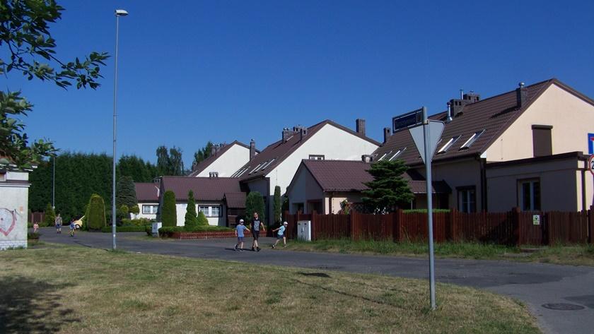 ulica Bursztynowa w Policach