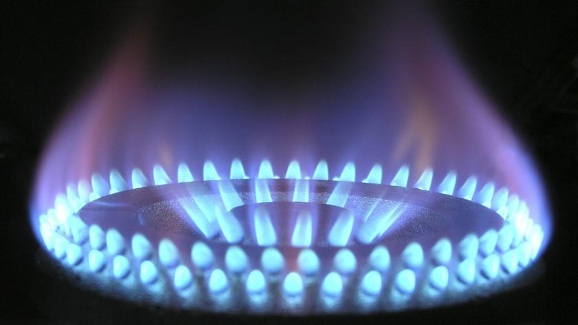 płomień kuchenki gazowej