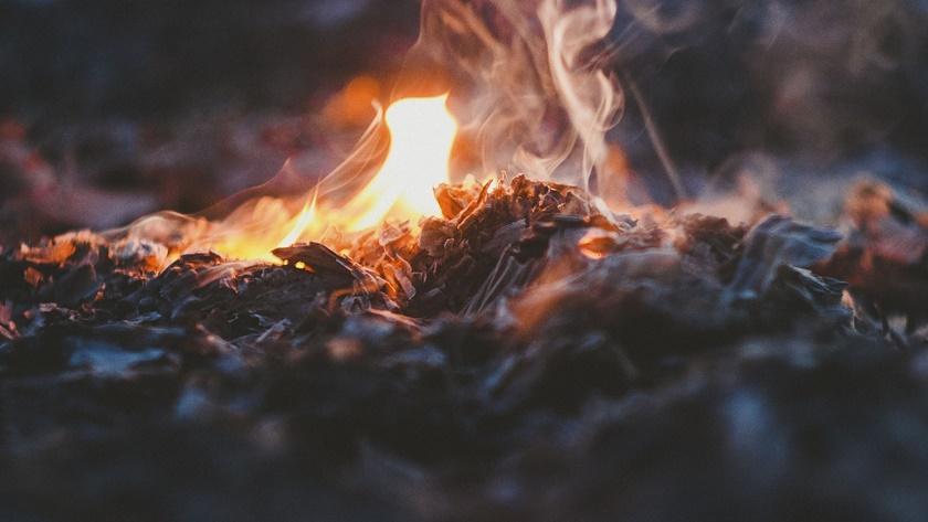 czad, dym, ogień