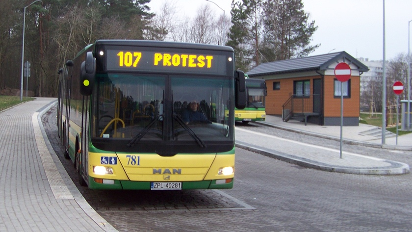 Protest na autobusach SPPK