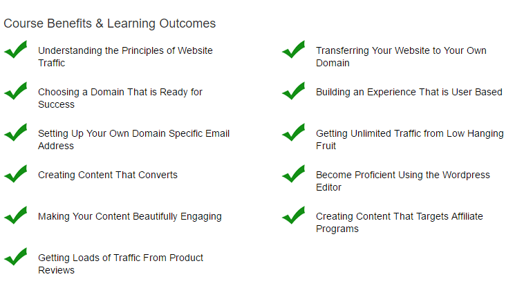Building Your Own Traffic Producing Website Level 2