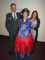 Traditional Korean Dress with the Israeli Military Attache