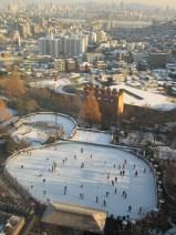 Ice skating near the Hotel Seoul