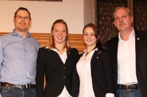 von links: Volker Klügl, Katrin Gottwald, Elena Krawzow, Wolfgang Götter