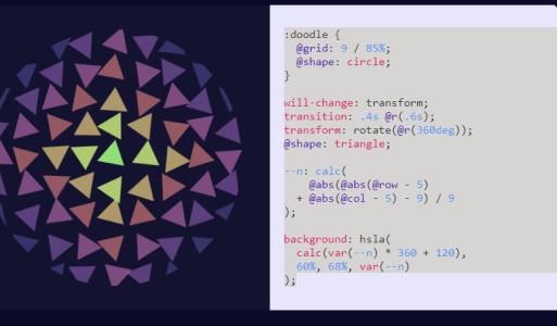 css-doodle 類CSS系統套件 可用來繪圖