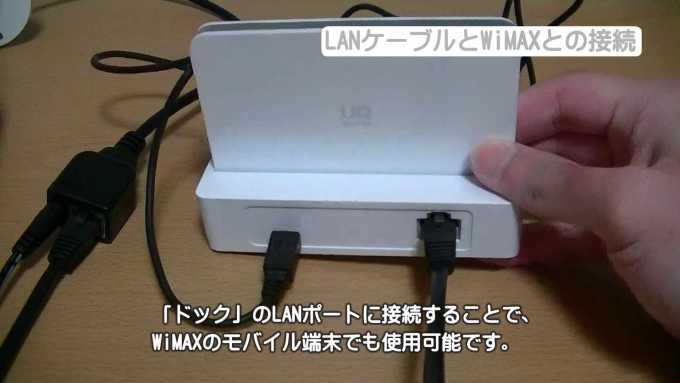 LANケーブルとWiMAXとの接続