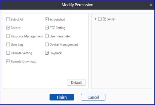 Modify permissions