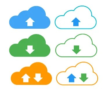 The concept of cloud storage illustrated diagrammatically.