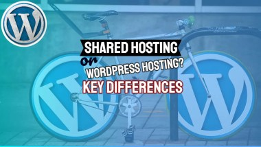 """Featured image with text: """"Shared Hosting or Wordpress Hosting?"""""""