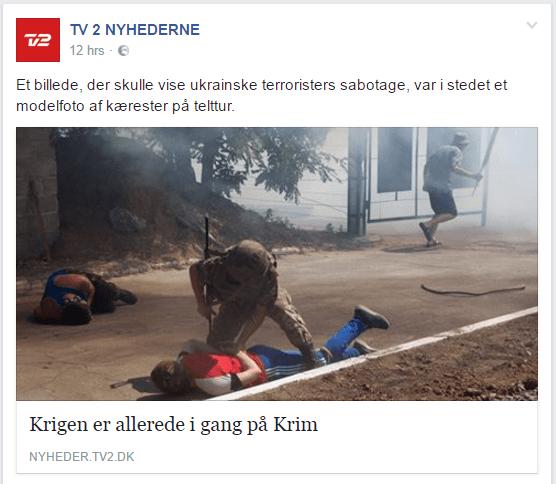 TV 2 Nyhedernes Facebook opslag