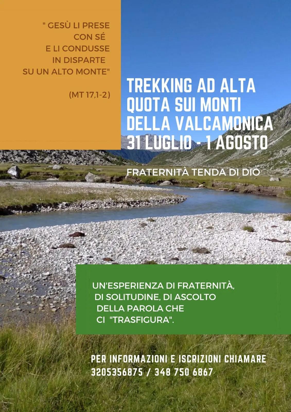 Verso l'Alto! 31 luglio   1° agosto: trekking di alta quota