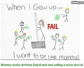 When I grow up I want to be just like mommy drawing funny
