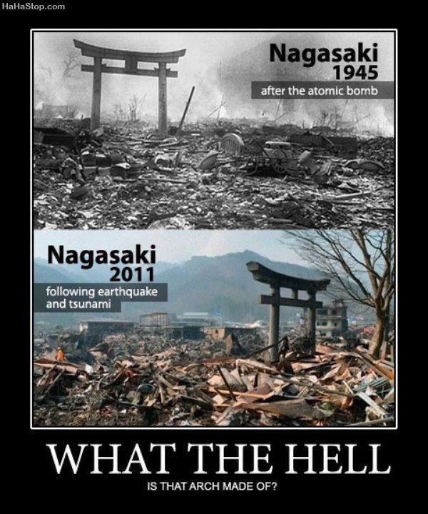 What the hell is that made of? - Nagasaki - Japan Earthquake aftermath
