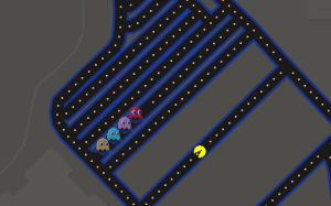 play pac man on google maps