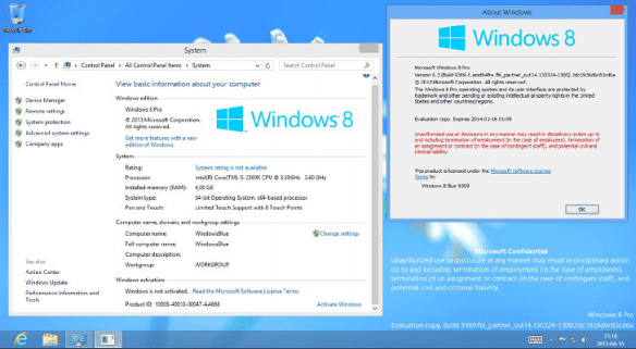 Win 8.1 build 9600 product key