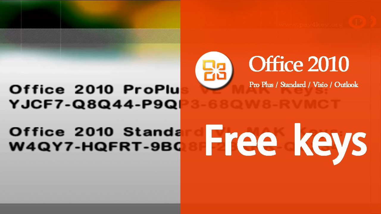 Working] MS Office 2010 Product Key Free Professional Plus Updated 2019