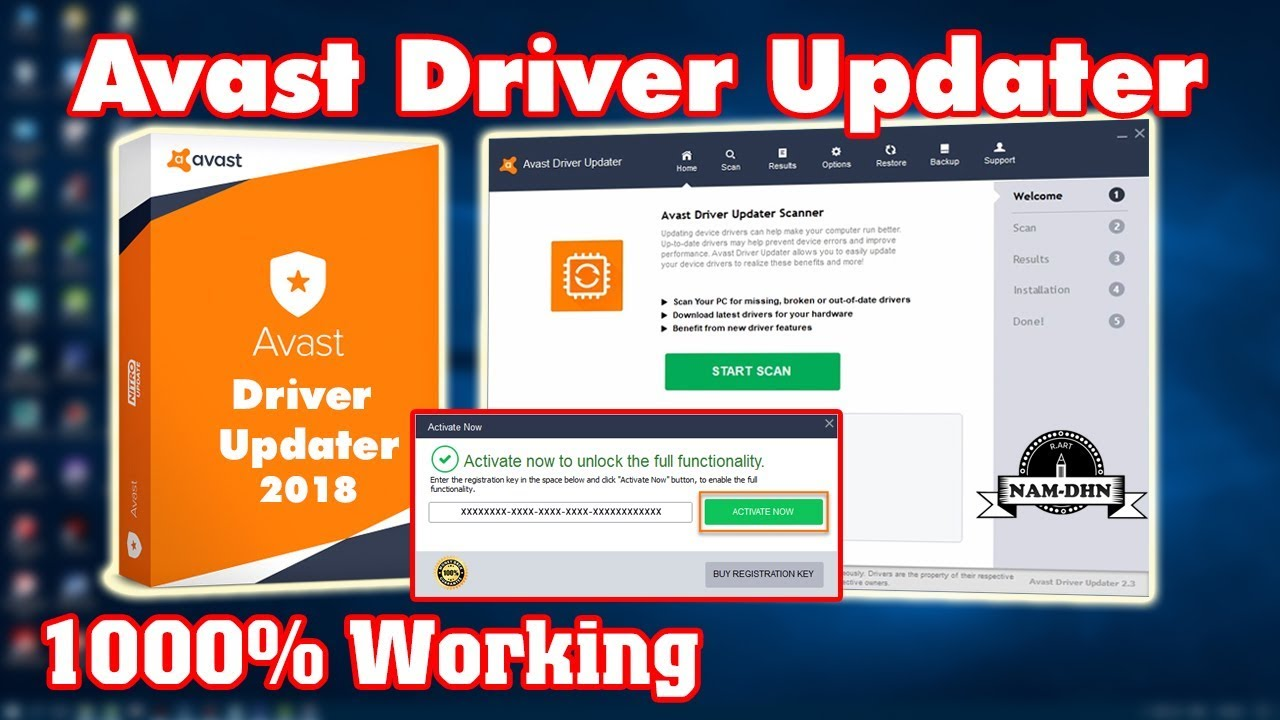 avast driver updater activation key free
