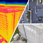 Drone inspections of high rise tower blocks