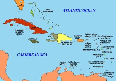 Us Caribbean Relations Institute For Policy Studies - Us-caribbean-islands-map
