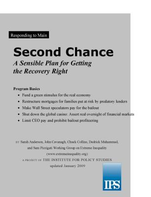 A Sensible Plan for Recovery