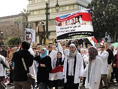 (Doctors Protesting in Egypt)