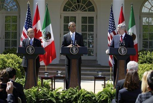 Obama and North American Counterparts Keep it Low Profile at Today's Three Amigos Summit