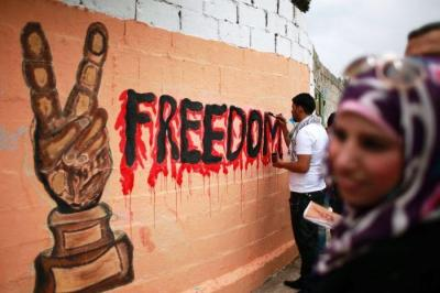 Palestinian activists celebrate the end of the hunger strike.