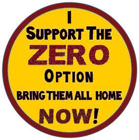 Badge: I support the zero option