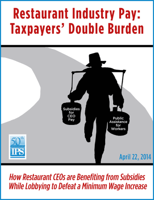 Restaurant Industry Pay: Taxpayers' Double Burden