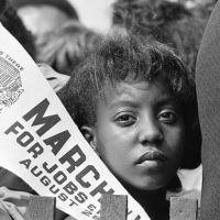 young girl participates in labor movement civil rights movement