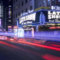 Late Show David Letterman sign