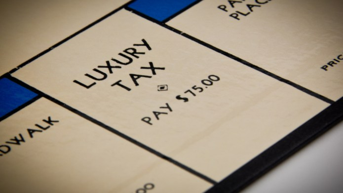 Monopoly board luxury tax space